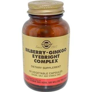 Solgar, Bilberry Ginkgo Eyebright Complex, 60 Vegetable Capsules