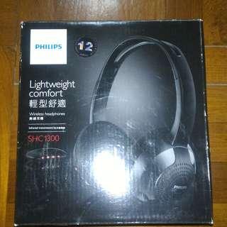 100% New Philips wireless headset SHC1300