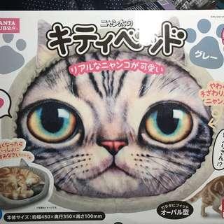 🚚 全新《日本 MARUKAN》貓大臉可愛寫真印窩