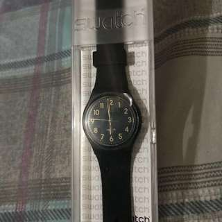 Swatch Tac Black Gold Analog Dial