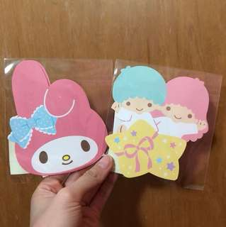 Sanrio my melody little twin stars cut out ang pao red packet money envelope