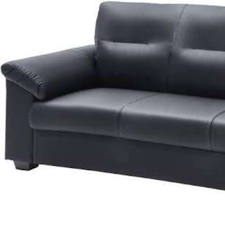 Black IKEA Knislinge Faux Leather Couch