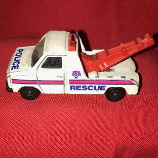 RARE  Corgi Ford Transit Wrecker Police Rescue 108 White #diecast #vintage 80s made in the UK