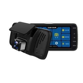 (高質素前後CAM) 高清輕觸式行車記錄儀 雙鏡頭 車CAM Touch Mon 高清 4吋特大顯示屏