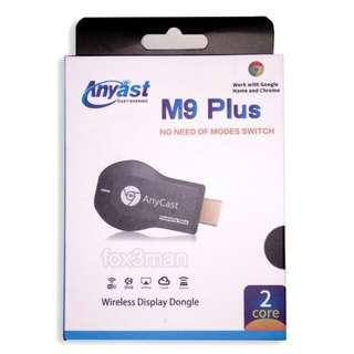 新版 M9 Plus AnyCast WiFi Miracast Dongle 支援IOS 11 iPhone 8 X
