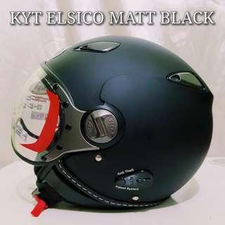 KYT ELSICO MATT BLACK..!!