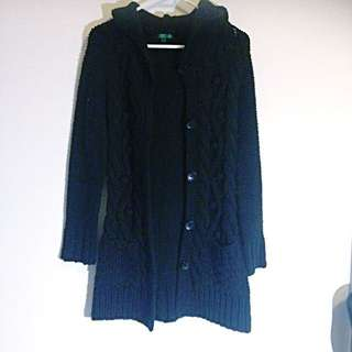 Woolley Hooded Button Up Jacket / Cardigan