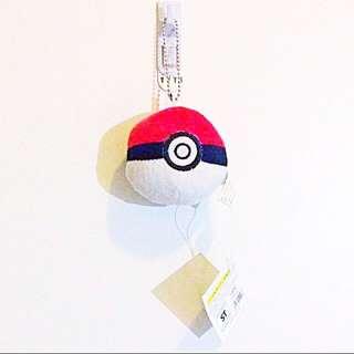 Pokemon Pokeball Plush Plushie Keychain