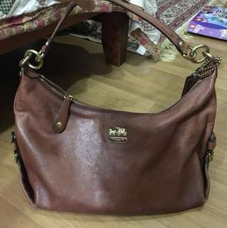Full leather authentic coach Hailey