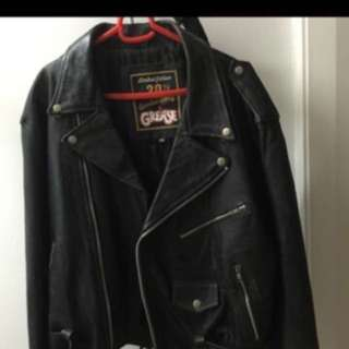 GREASE Leather Jacket Authentic