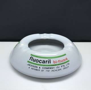 Vintage Ashtray Fluocaril bi-fluore