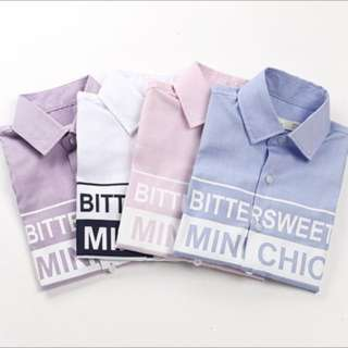 Brand new button shirt for boys