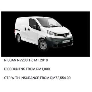 NISSAN NV200 1.6 MT 2018