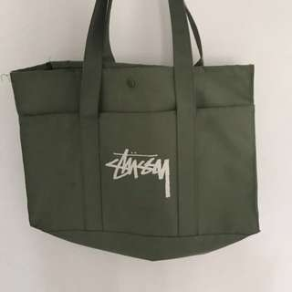 REPRICE! STUSSY Military Camouflage Logo Tote Bag
