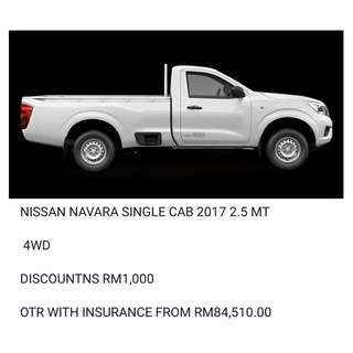 NISSAN NAVARA SINGLE CAB 2.5 MT 2017