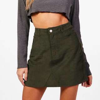 Mini Cord Denim Skirt