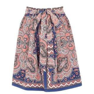 Oasis mini pink/blue pattern skirt