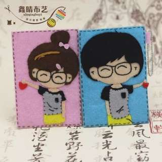 Ezlink Card Holder DIY free cut material package couples card holder