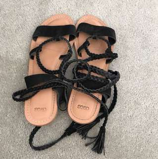 Tie up sandals
