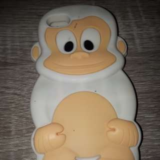 Iphone 5 monkey silicon cell case