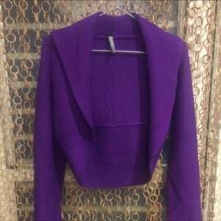🙈《沒穿過系列》短腰紫色針織上衣