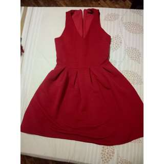 TOPSHOP red dress(AUTHENTIC)