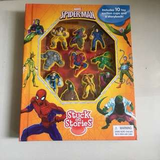 全新Marvel Spider-Man stuck on Stories互動英文故事書