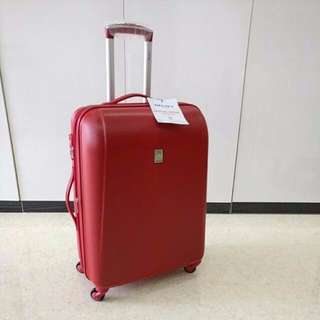 """Delsey 26"""" Extend III Red Luggage"""