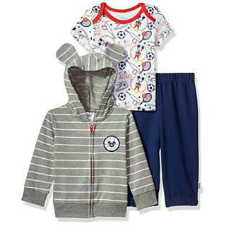 Disney Baby Clothes Hoodie Jacket Shirt Onesie Pants Set Mickey Mouse