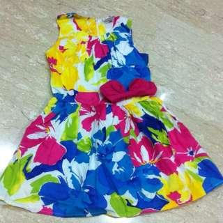 Brand New Flowery Girl Dress