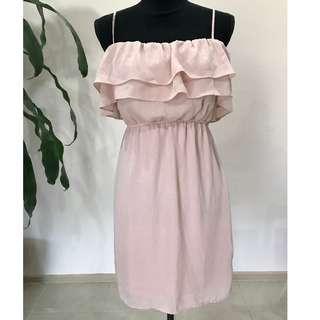 BRAND NEW BARDOT Pale Pink Layer Singlet Dress (Wedding/ Formal/ Ball)