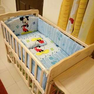 Crib bumpers disney micky
