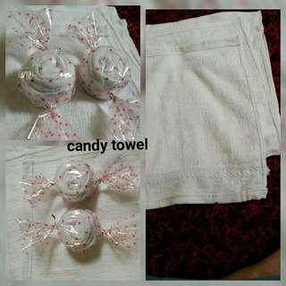 Candy towel doorgifts