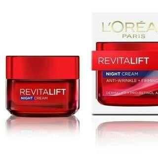 L'Oréal night cream