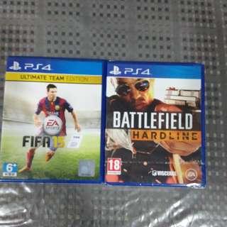 PS4 battlefield New n Fifa15