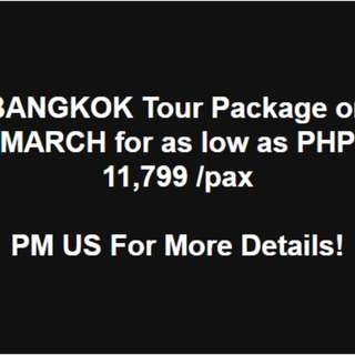 BANGKOK TOUR PACKAGE - NO HIDDEN CHARGES!