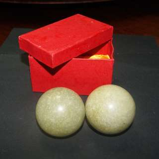 A Pair of Jade Balls for exercising the Fingers