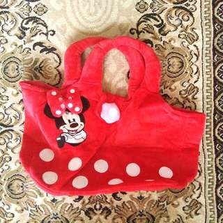 🆕Minnie Mouse Furry Handbag From Disneyland