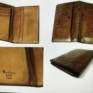 Berluti jagua leather card holder wallet designer Brand