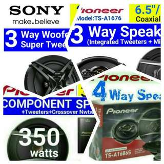 LOWEST PRICE CAR SPEAKERS for your Vehicles.  Saloon Cars, MPVs, Vans, Lorries, Buses, etc.  (All items are 100% Original and Guaranteed Brand new in box & Sealed). Whatsapp 85992490  to collect  today.