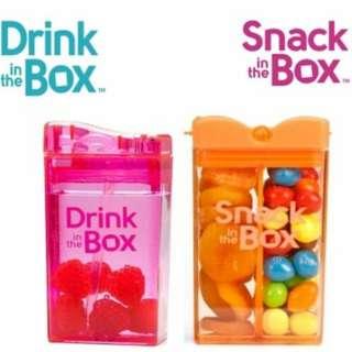 🚚 【加拿大】兒童戶外一小一盒同色組(吸管杯235ml*1+零食盒*1)
