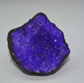 Agate crystal cave purple