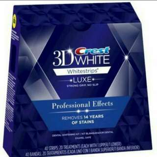 Authentic Crest 3D Whitening Strips (One box)