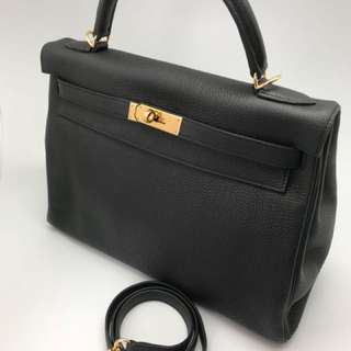 Hermès Kelly black 32 GHW