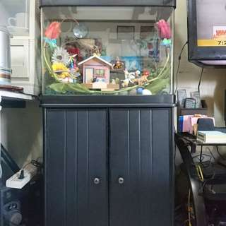 Aquarium Set with closet stand and accessories