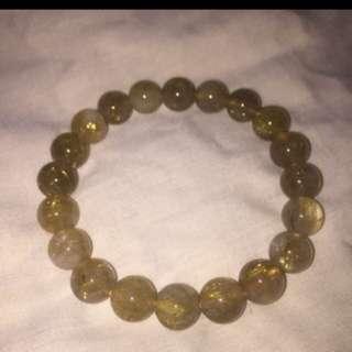 {FS138} Double AA Gold Rutilated Crystal Bracelet