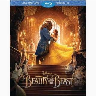 Beauty & The Beast ( Blu Ray + Dvd + Digital Hd ) includes slipcover