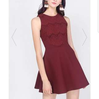 Fayth Asthea Laced Swing Dress In Size S