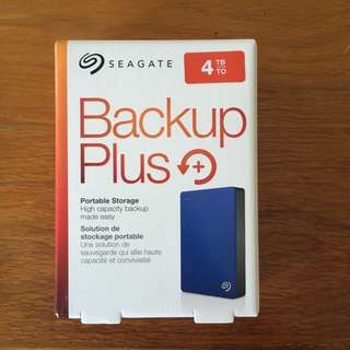 4TB Seagate Backup Plus Portable Hard Disk Drive HDD Data Storage