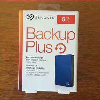5TB Seagate Backup Plus Slim Portable Hard Disk Drive HDD Data Storage